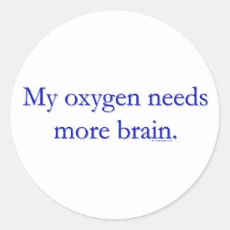 Oxy Brain Classic Round Sticker