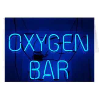 Oxygen Bar Card