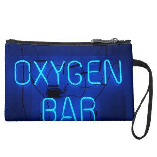 Oxygen Bar Suede Wristlet