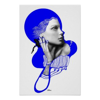 Oxygen Blue Diva Poster