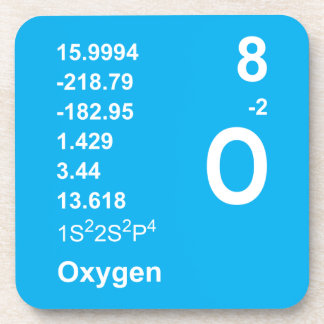 Oxygen Coasters (light on blue)