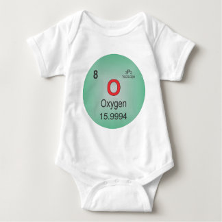 Oxygen Individual Element of the Periodic Table Baby Bodysuit