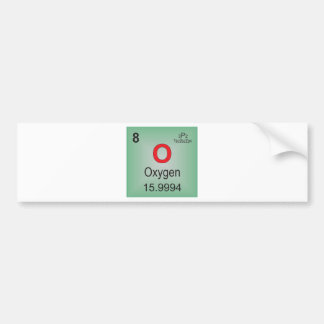 Oxygen Individual Element of the Periodic Table Bumper Stickers