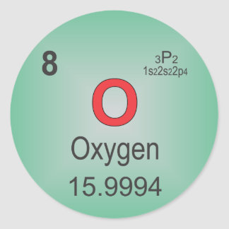 Oxygen Individual Element of the Periodic Table Classic Round Sticker