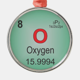 Oxygen Individual Element of the Periodic Table Metal Ornament