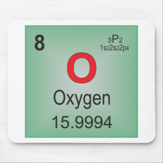 Oxygen Individual Element of the Periodic Table Mouse Pad