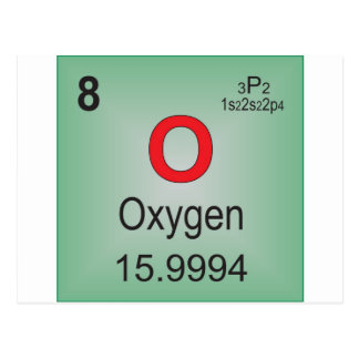 Oxygen Individual Element of the Periodic Table Postcard