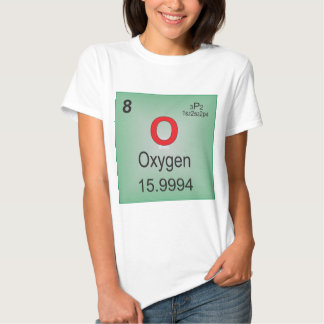 Oxygen Individual Element of the Periodic Table Tee Shirt