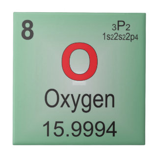 Oxygen Individual Element of the Periodic Table Tiles