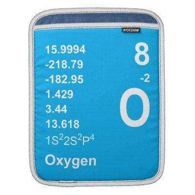 Oxygen iPad Sleeve (light on blue)