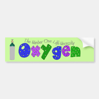 """Oxygen"" Respiratory Therapist T-Shirts & Gifts Car Bumper Sticker"