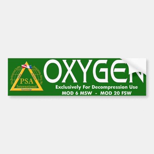 OXYGEN STICKER CAR BUMPER STICKER