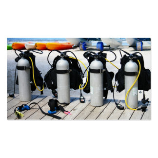 Oxygen Tanks for Scuba Diving in the Caribbean Business Card