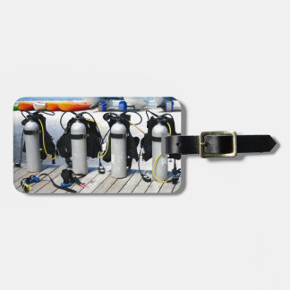 Oxygen Tanks for Scuba Diving in the Caribbean Travel Bag Tags