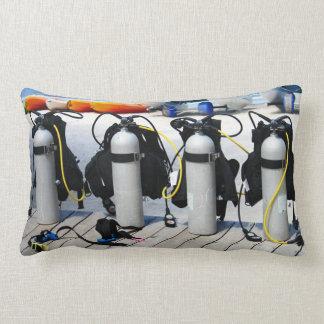 Oxygen Tanks for Scuba Diving in the Caribbean Lumbar Pillow