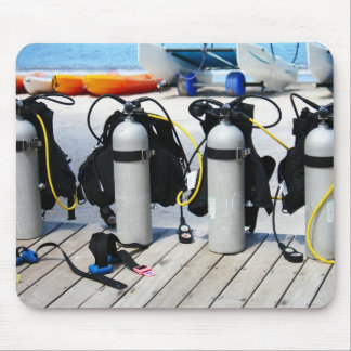 Oxygen Tanks for Scuba Diving in the Caribbean Mouse Pad