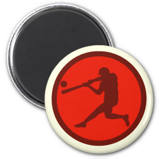 Oxygentees Batter Up 2 Inch Round Magnet