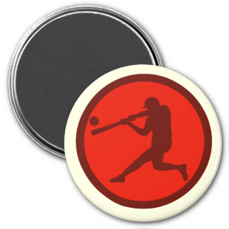 Oxygentees Batter Up 3 Inch Round Magnet