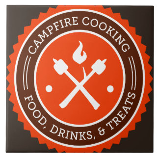 Oxygentees Campfire Cooking Large Square Tile