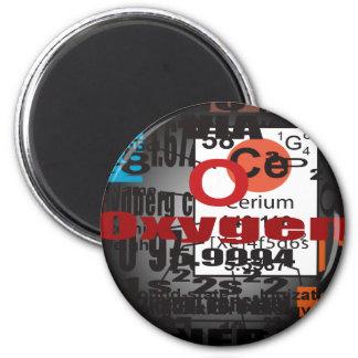 Oxygentees CERIUM 2 Inch Round Magnet