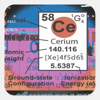 Oxygentees Cerium Square Sticker