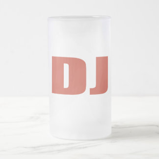 Oxygentees DJ Frosted Glass Beer Mug