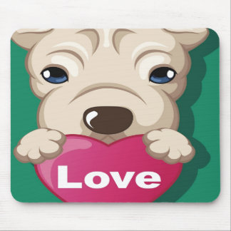 Oxygentees Dog Love Mouse Pad