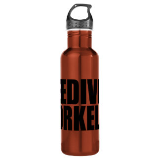 Oxygentees Freedivers Snorkelers Water Bottle