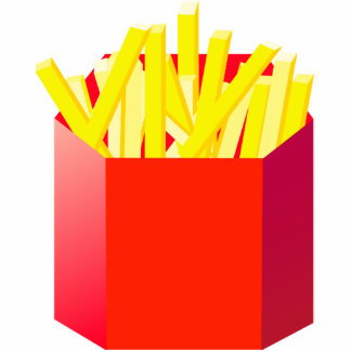 Oxygentees French Fry Sculpture Acrylic Cut Outs