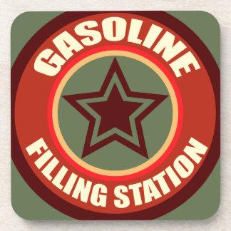 Oxygentees Gasoline Filling Station Cork Coaster