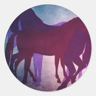 Oxygentees Horseplay Classic Round Sticker