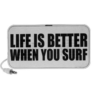 Oxygentees Life Is Better When You Surf Portable Speaker