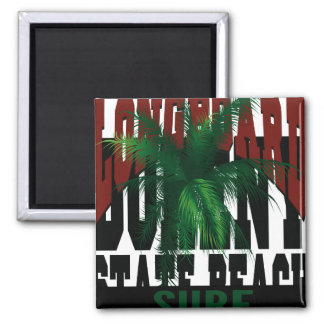 Oxygentees Longboard State Beach Magnet