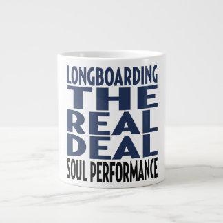 Oxygentees  Longboard The Real Deal Giant Coffee Mug