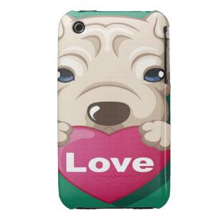 Oxygentees Love Dog iPhone 3 Case-Mate Case