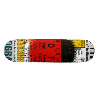 Oxygentees Old School Periodic Table Skateboard