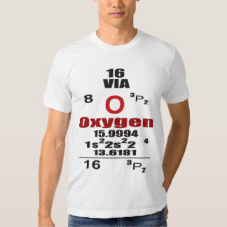 Oxygentees Oxygen Periodic Table T Shirt