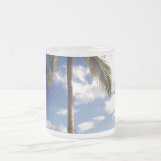 Oxygentees Paradise Frosted Glass Coffee Mug