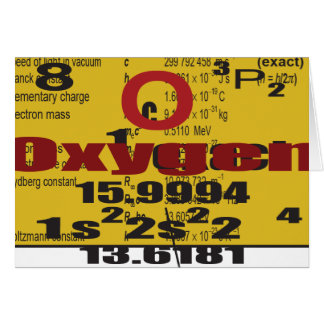 Oxygentees Periodic Table Card