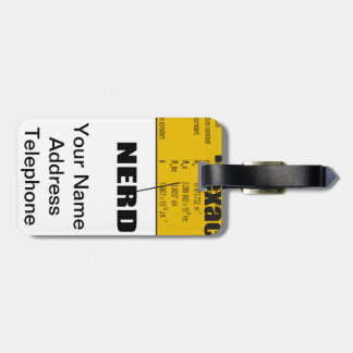 Oxygentees Periodic Table Luggage Tag