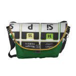 Oxygentees Periodic Table Rickshaw Bag Commuter Bags
