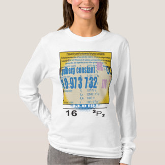 Oxygentees Periodic Table  Rydberg Constant T-Shirt