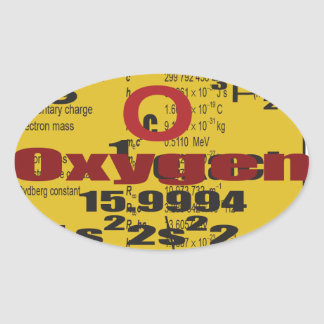 Oxygentees Periodic Table Oval Stickers