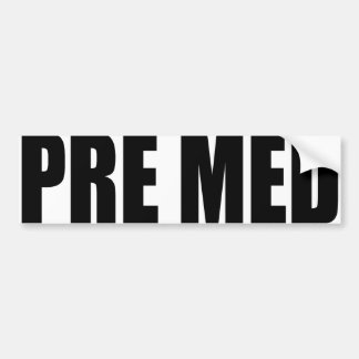 Oxygentees Pre Med Bumper Sticker
