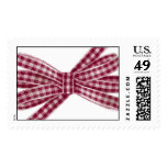 Oxygentees Red Gingham Bow Postage