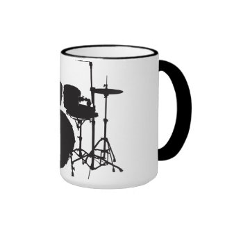Oxygentees Rock and Roll Drums Mug