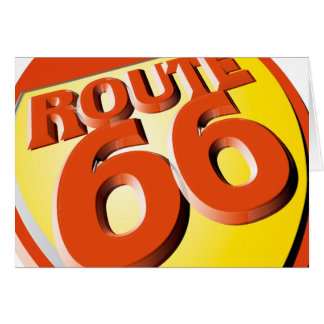 Oxygentees Route 66 Greeting Cards