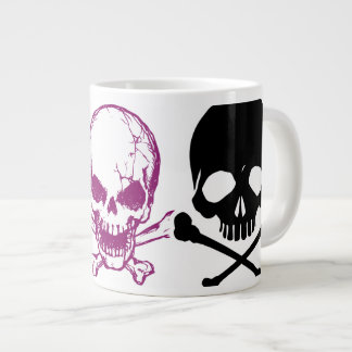 Oxygentees Skulls Join Hands Jumbo Mug 20 Oz Large Ceramic Coffee Mug