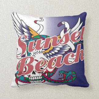 Oxygentees Sunset Beach American MoJo Pillow
