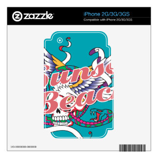 Oxygentees Sunset Beach Decal For The iPhone 3